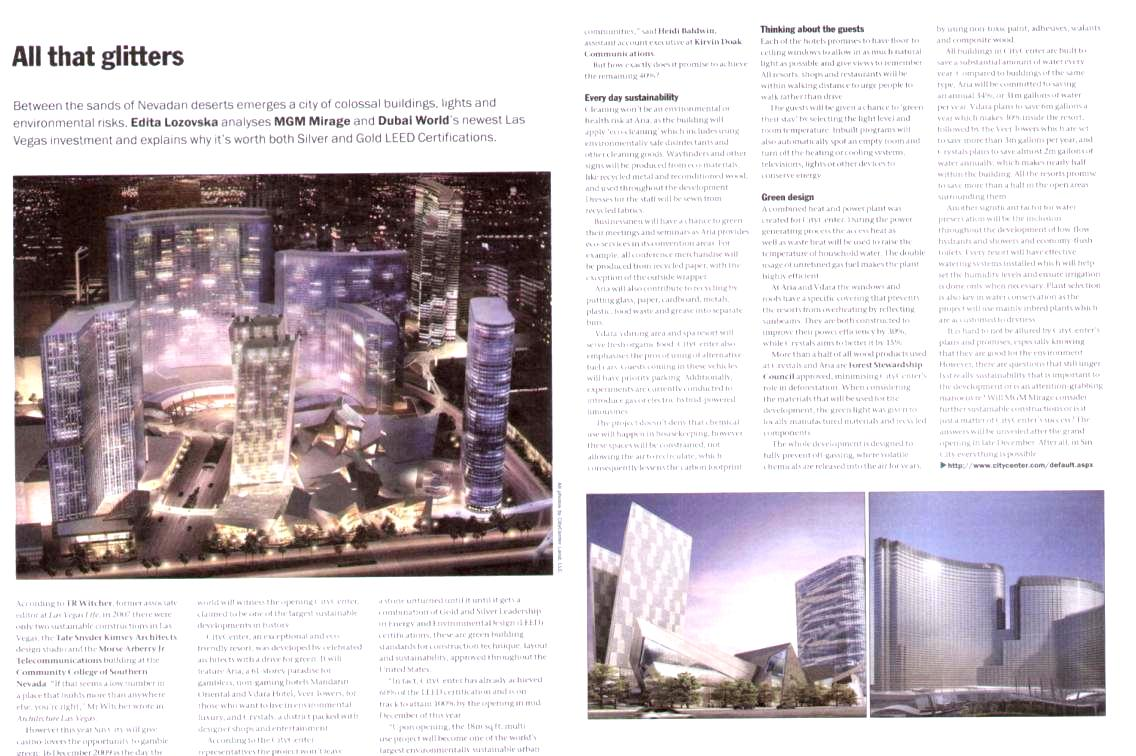Sustainable Building Las vegas Feature by Edita Lozovska