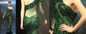 Hany el behairy green dress