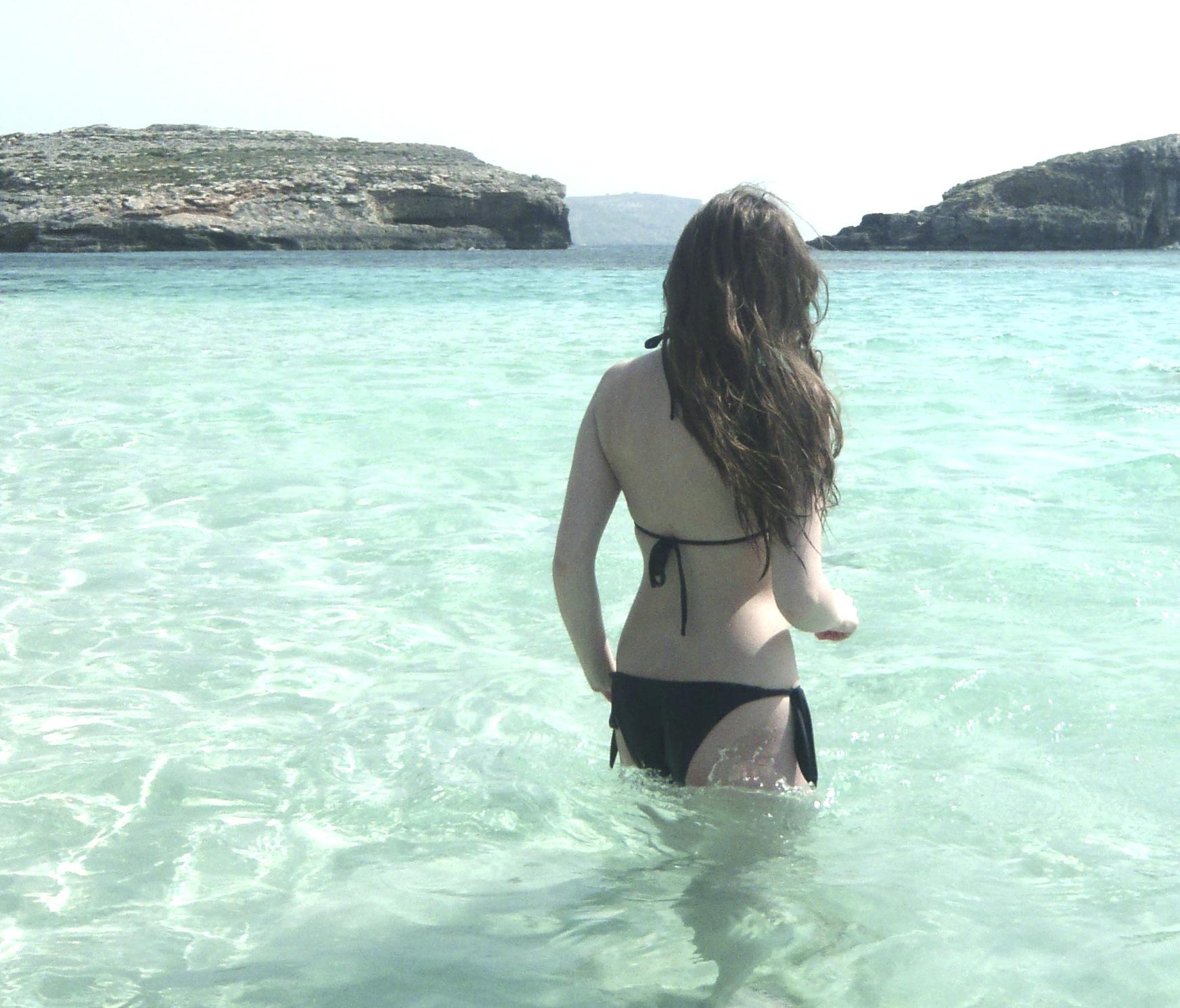 Edita a quick swim