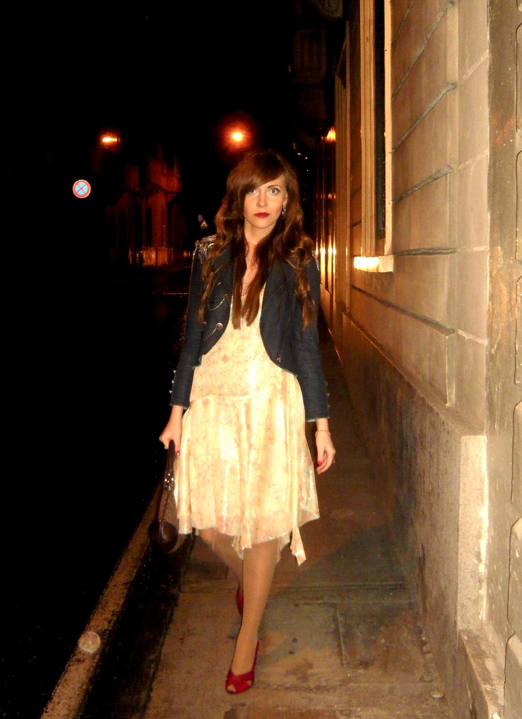 Edita in silk dress by Edun, jacket by Alice+Olivia