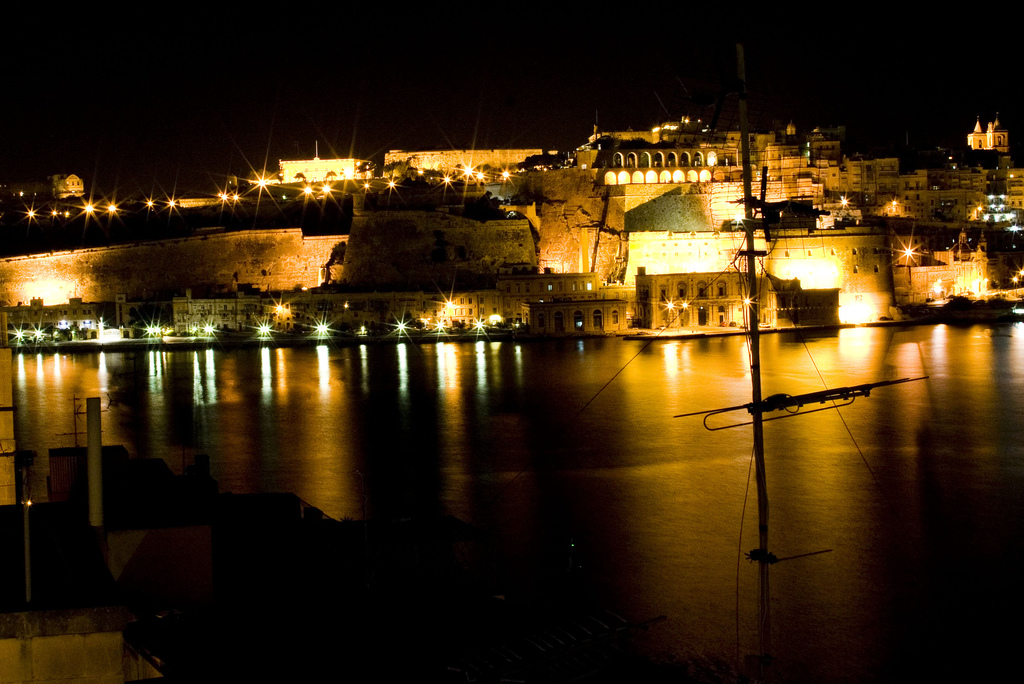 Malta at night by Juliette Melton